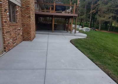 omaha custom concrete patio